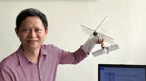 Engineers have designed a flapping drone  that can fly and dart around like a bird