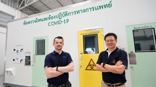 Auto-Info develops an innovative mobile COVID testing unit incorporating Siemens Climatix IC