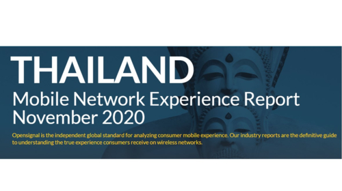 Opensignal: Thailand Mobile Network Experience Report November 2020