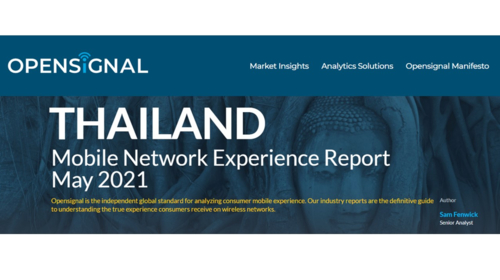 Thailand Mobile Network Experience Report  May 2021