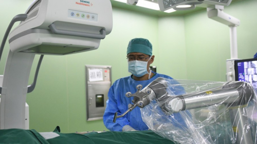 Robots help with orthopedic surgeries in Beijing
