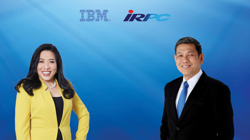 (left)  Patama Chantaruck, VP for Indochina Expansion and MD for IBM Thailand and (right) Mr. Chawalit Tippawanich, President and Chief Executive Officer of IRPC